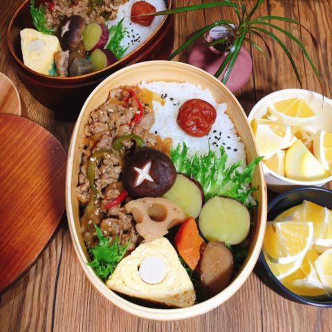彩り野菜と牛スタミナ焼き弁当