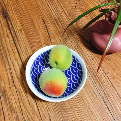 庭で採れた梅の実