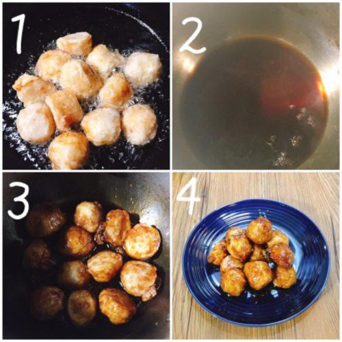 里芋の甘辛から揚げ作り方手順