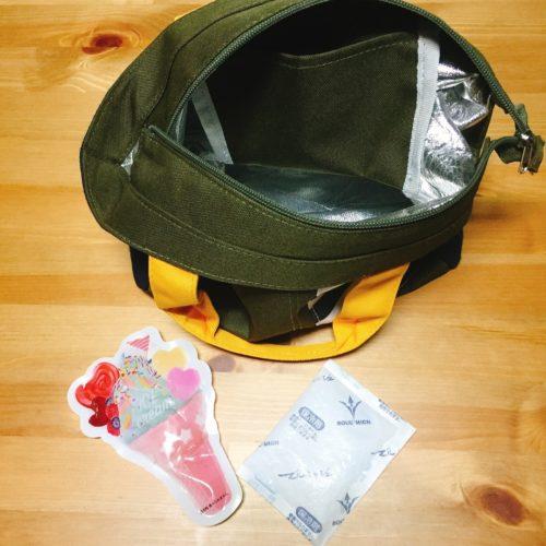 ランチバッグと保冷剤