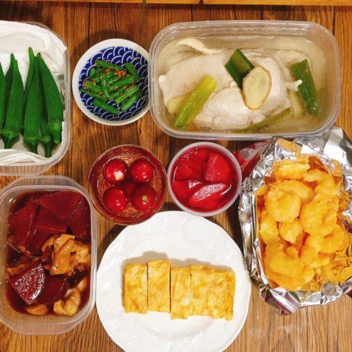日曜の夜準備したお弁当おかず