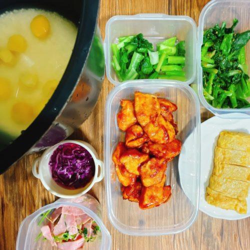 栗ご飯のお弁当おかず前日の夜に準備
