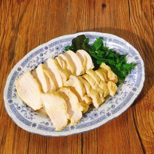 サラダチキンメーカーで作ったカレー味のサラダチキン