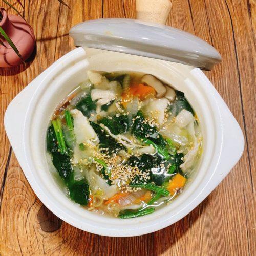 風邪予防を意識した具沢山スープ