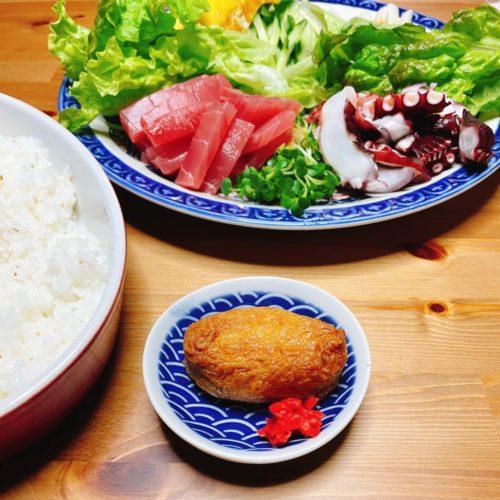 手巻き寿司と稲荷寿し