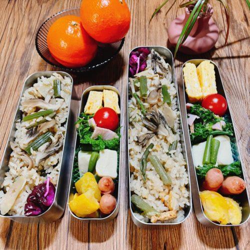 山菜ご飯のお弁当