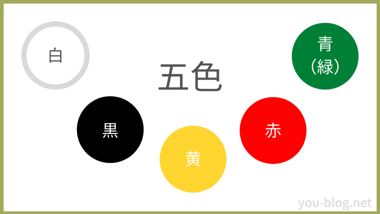 お弁当の彩り5色
