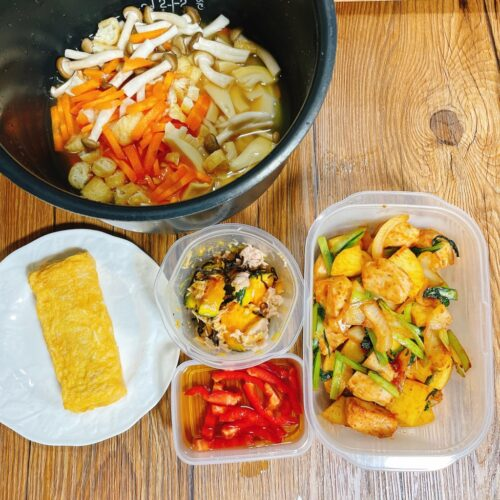 筍五目ご飯弁当の前日準備