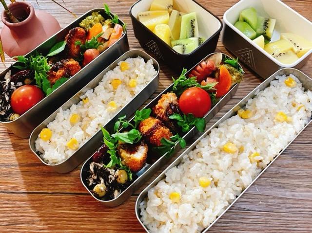 とうもろこし玄米ご飯のお弁当