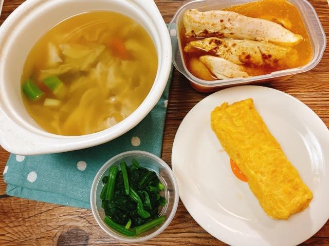 スープ弁当の前日準備