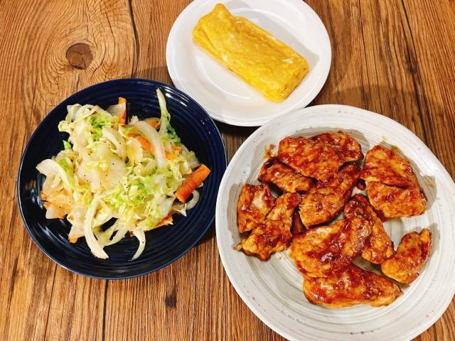 トンテキ丼弁当の前日準備の作り置き